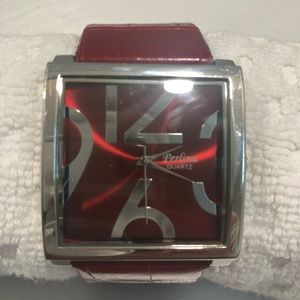 Perlina Quartz Big Bold Red Watch